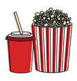 pop corn with soda vector image vector image