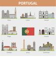 portugal symbols cities vector image vector image