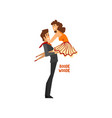 professional dancer couple dancing boogie woogie vector image vector image