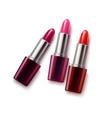 realistic female lipstick mockup set vector image
