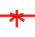 red bow and ribbon isolated on white background vector image vector image