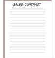 sales contract forms documents legal concept vector image vector image