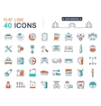 Set Flat Line Icons Car Service vector image vector image
