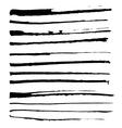 Set of black ink brushes vector image vector image