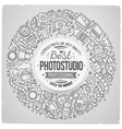 Set of Photo studio cartoon doodle objects round vector image vector image