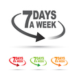 seven days set vector image vector image