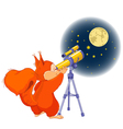 squirrel astronomer vector image vector image