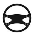 steering wheelcar single icon in black style vector image vector image
