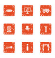 submission icons set grunge style vector image