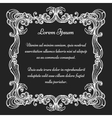 Vintage baroque ornate frame vector image