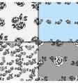 Vintage black and white rose patterns vector image