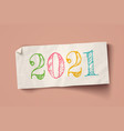 vintage paper banner for christmas or new year vector image