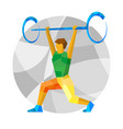 weightlifter with abstract patterns vector image vector image