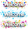 Welcome color banners vector image vector image