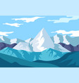 winter landscape mountains view snowy rocks vector image vector image
