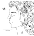 Zen Tangle girl woman with vector image vector image