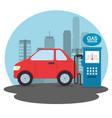 gas station cartoon vector image