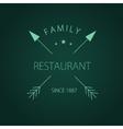 Label logo or menu design for restaurant or vector image