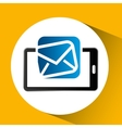 mobile phone icon email social media vector image