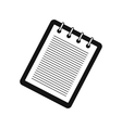 Notebook with spring simple icon vector image
