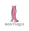 abstract dress boutique logo design vector image