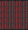 abstract red and black hexagon pattern vector image