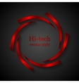 Abstract red metal logo design vector image vector image