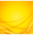 Abstract shining yellow wavy background vector image vector image