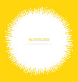 abstract yellow color stripe line circle cover vector image vector image