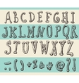 Alphabet Original Doodle Engraved Hand Drawn vector image vector image