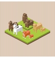 Animal design Isometric icon nature concept vector image vector image