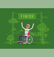 augmented reality man wheelchair user winning vector image vector image