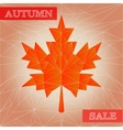 autumn polygonal sale poster vector image vector image
