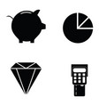 banking icon set vector image vector image