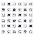 black and line speech bubble icons vector image