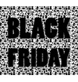 black friday words on special shopping background vector image vector image