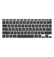 Black Keyboard Stroke QWERTY vector image