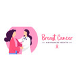 breast cancer awareness health concept banner vector image vector image