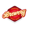 brewery sign label lettering vintage vector image