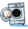 broken washing machine vector image vector image