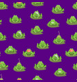 cartoon cute green frogs characters seamless vector image vector image