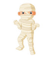 cartoon egyptian mummy vector image