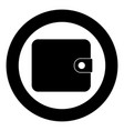 change purse icon black color in circle vector image vector image