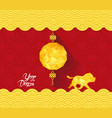 chinese new year background with lantern year of vector image vector image
