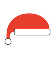 christmas hat clothes of santa decoration vector image