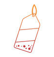 christmas shopping tag isolated icon vector image