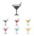 Coctail icons set vector image vector image