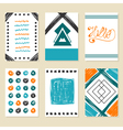collection hand drawn cards modern design vector image vector image