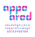 color font alphabet with overlay effect letters vector image vector image
