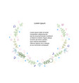 colorful floral and herb wreath vector image vector image